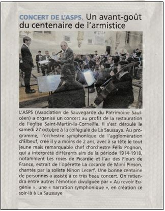 20181027 Article Concert Courrier Eure